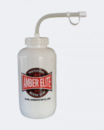 Pro Style Water White Bottle with Long Curved Straw White 24oz