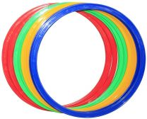 Speed Agility Circles for Trainers, 4 Assorted Colors (Set of 12)