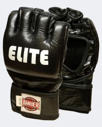 Elite MMA Cage Gloves Real Leather Grappling Martial Arts Punching Bag