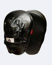 Genuine Leather Extreme Curved Target Focus Punching Mitts for MMA with Wrist Support