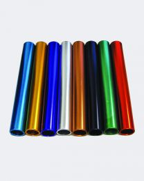 Aluminum Anodized Adult Relay Batons Set IAAF Certified (8 Assorted Colors)